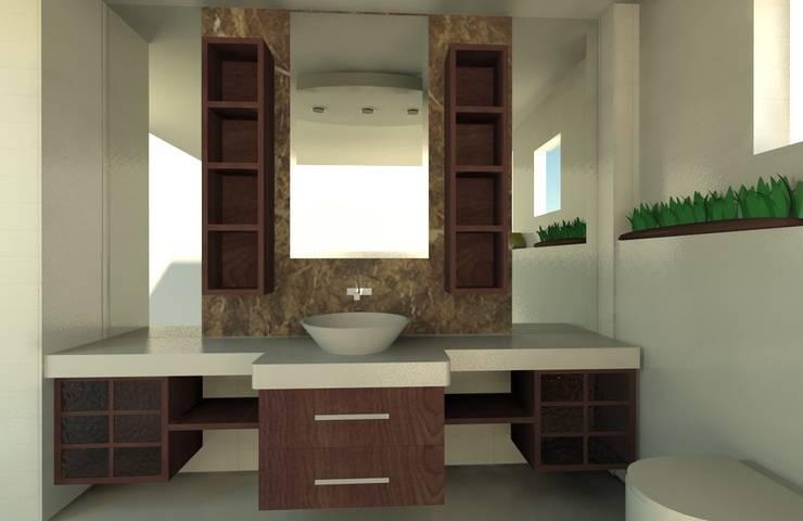GENT İÇ MİMARLIK – KOZYATAĞI KONUT PROJESİ: modern tarz Banyo