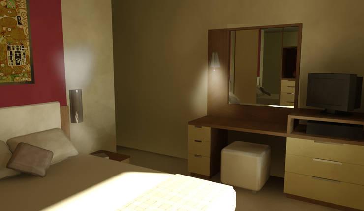 GENT İÇ MİMARLIK – KOZYATAĞI KONUT PROJESİ: modern tarz Yatak Odası