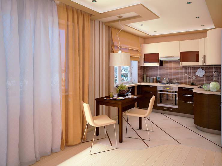 Дизайн интерьеров хрущевки: Гостиная в . Автор – Алина  Насонова