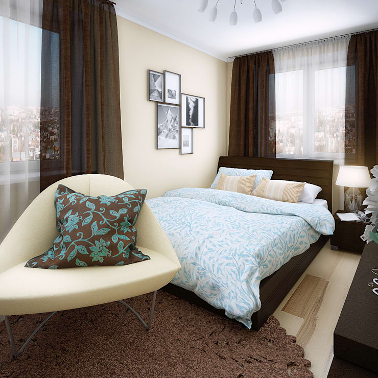 Дизайн интерьеров хрущевки: Спальни в . Автор – Алина  Насонова
