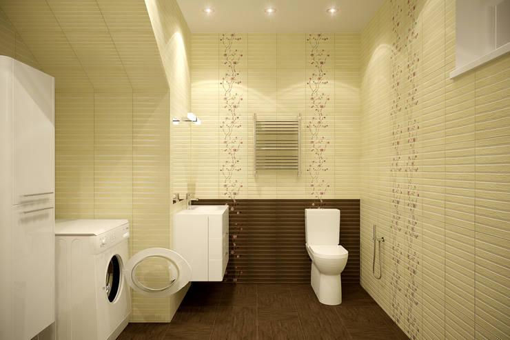 ห้องน้ำ by Студия интерьерного дизайна happy.design