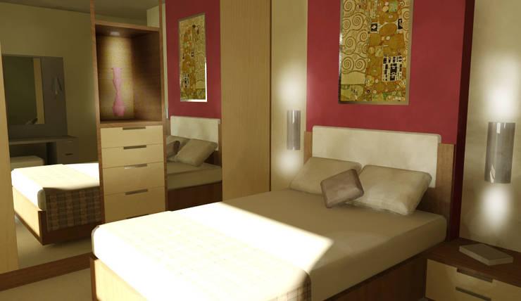 GENT İÇ MİMARLIK – KONUT PROJESİ:  tarz Yatak Odası, Modern