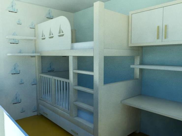 GENT İÇ MİMARLIK – KONUT PROJESİ:  tarz Çocuk Odası, Modern