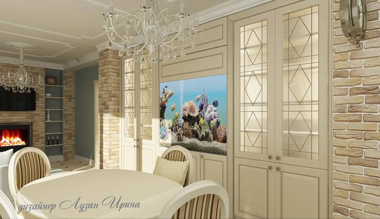 Гостиная в классическом стиле: Гостиная в . Автор – Творческая мастерская Лузан Ирины