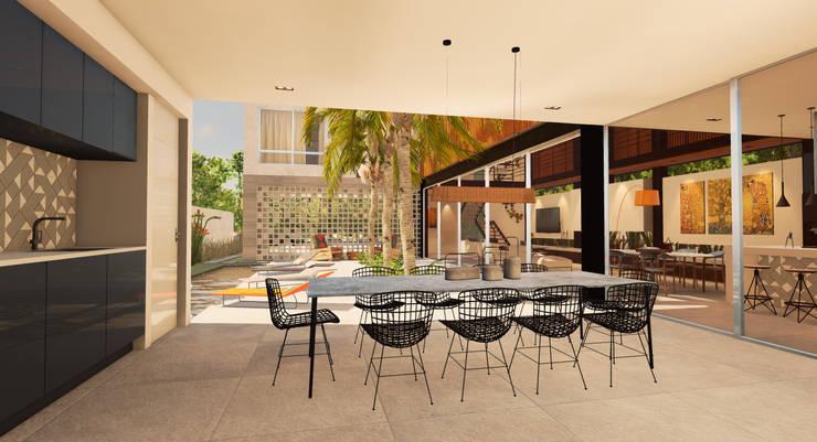 Casa Alphaville: Casas  por Macro Arquitetos