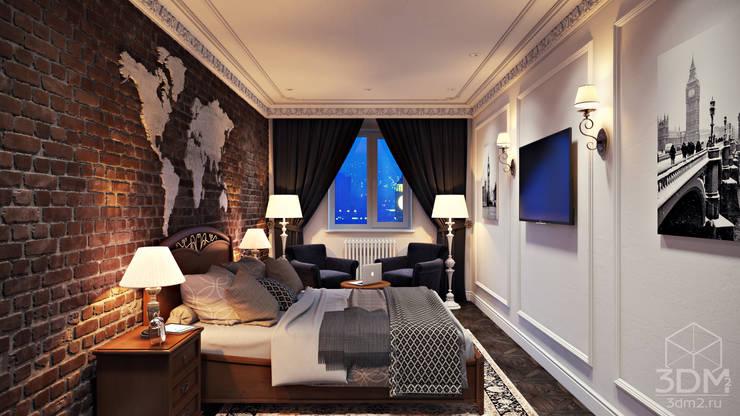 Проект 041: спальня: Спальни в . Автор – студия визуализации и дизайна интерьера '3dm2'