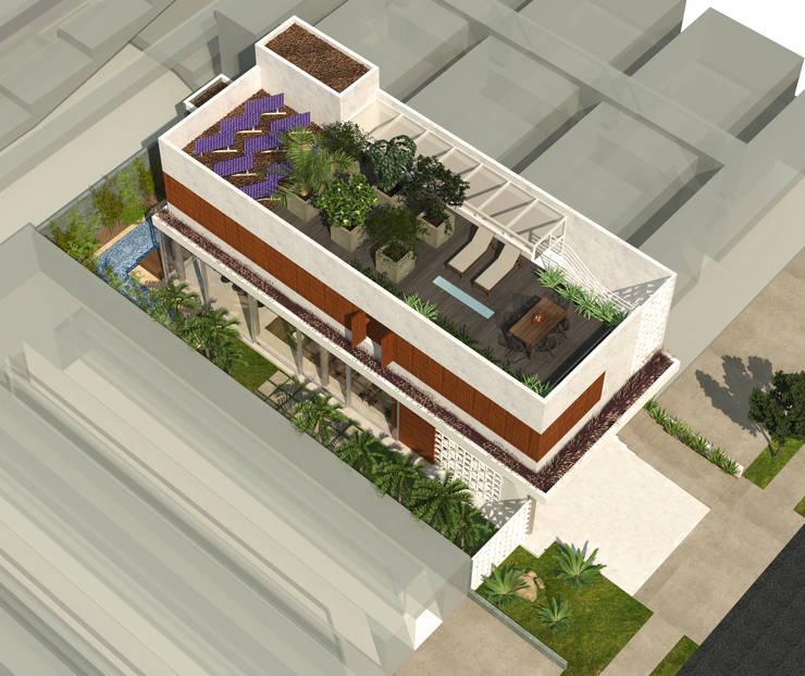 Casa L.&J. : Terraços  por Macro Arquitetos,Moderno