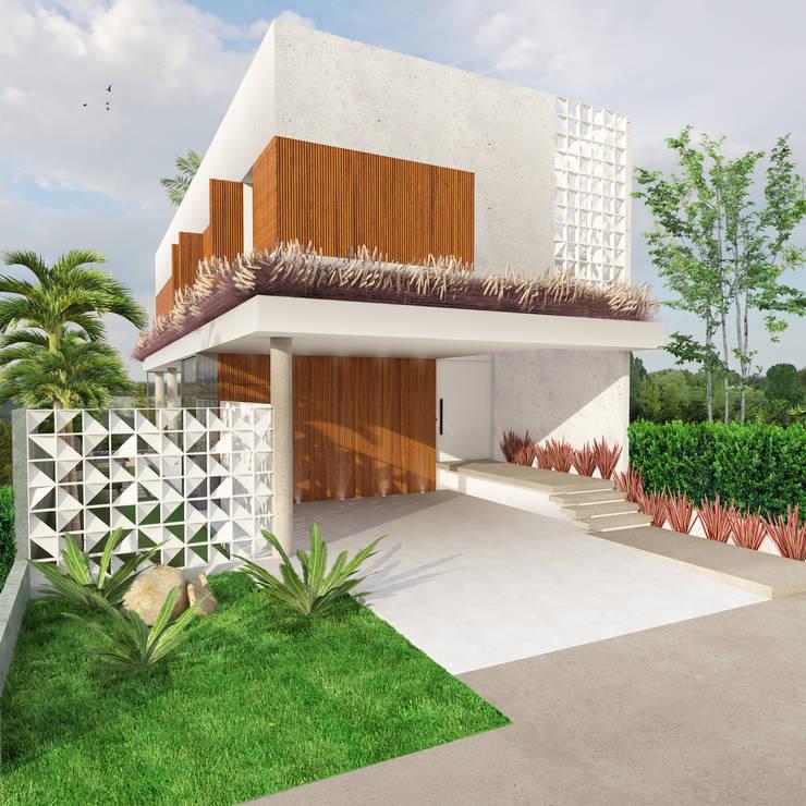 Casa L.&J. : Casas  por Macro Arquitetos,Moderno