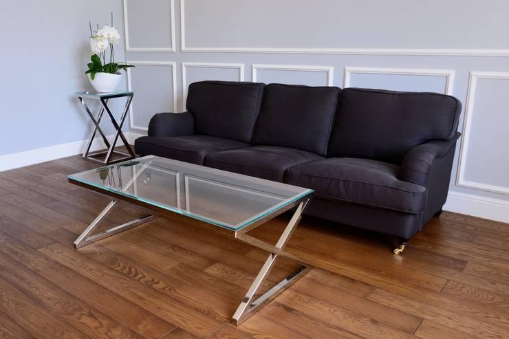 Aranżacje: styl , w kategorii  zaprojektowany przez FABHOME,Nowoczesny Aluminium/Cynk