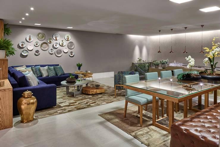 Decora Líder Vitória - Sala Descolada: Salas de jantar modernas por Lider Interiores