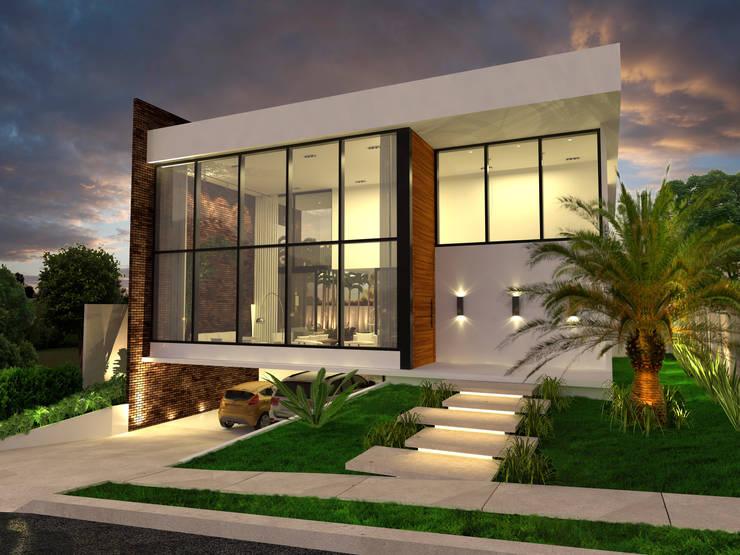Casa Fazenda: Casas  por Macro Arquitetos