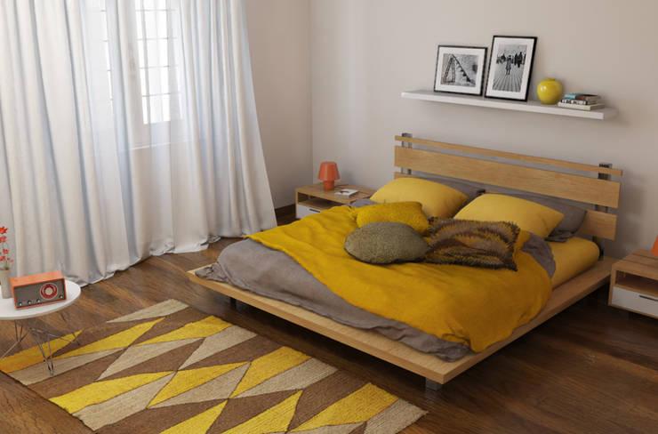 Fabio Sillato Architect & Graphic Designer의  침실