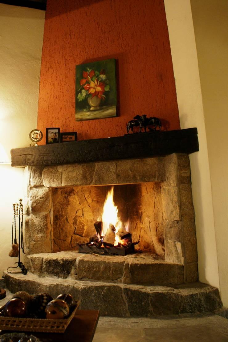Sala de Lareira: Salas de estar  por Daniela Zuffo Arquitetura e Interiores,