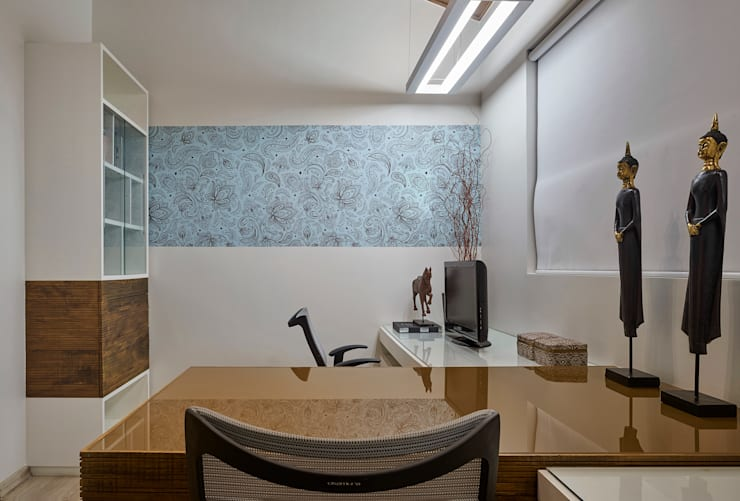 Estudios y biblioteca de estilo  por Isabela Canaan Arquitetos e Associados