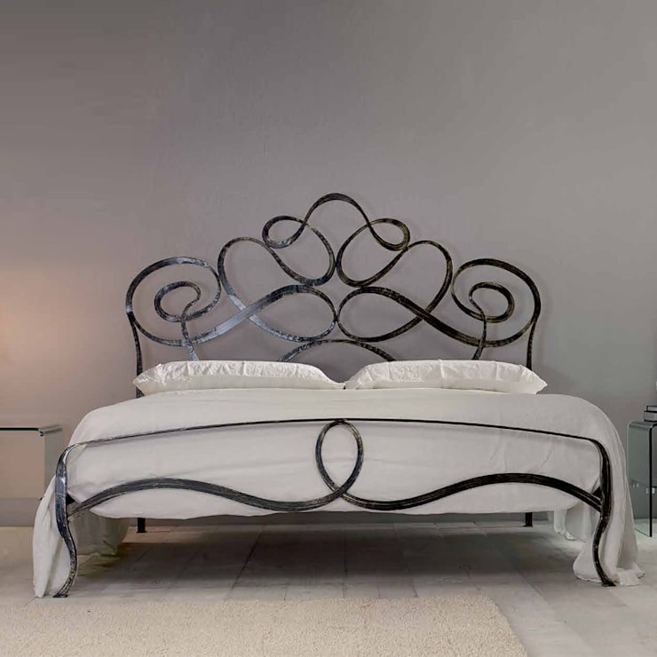 'Ara' Hand made wrought iron bed by Cosatto: modern Bedroom by My Italian Living
