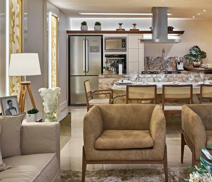 Decora Lider Vitória – Living e Cozinha : Salas de estar modernas por Lider Interiores