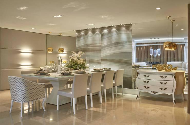 Decora Lider Vitória - Sala de Estar e Jantar Para o Casal Sofisticado : Salas de jantar  por Lider Interiores