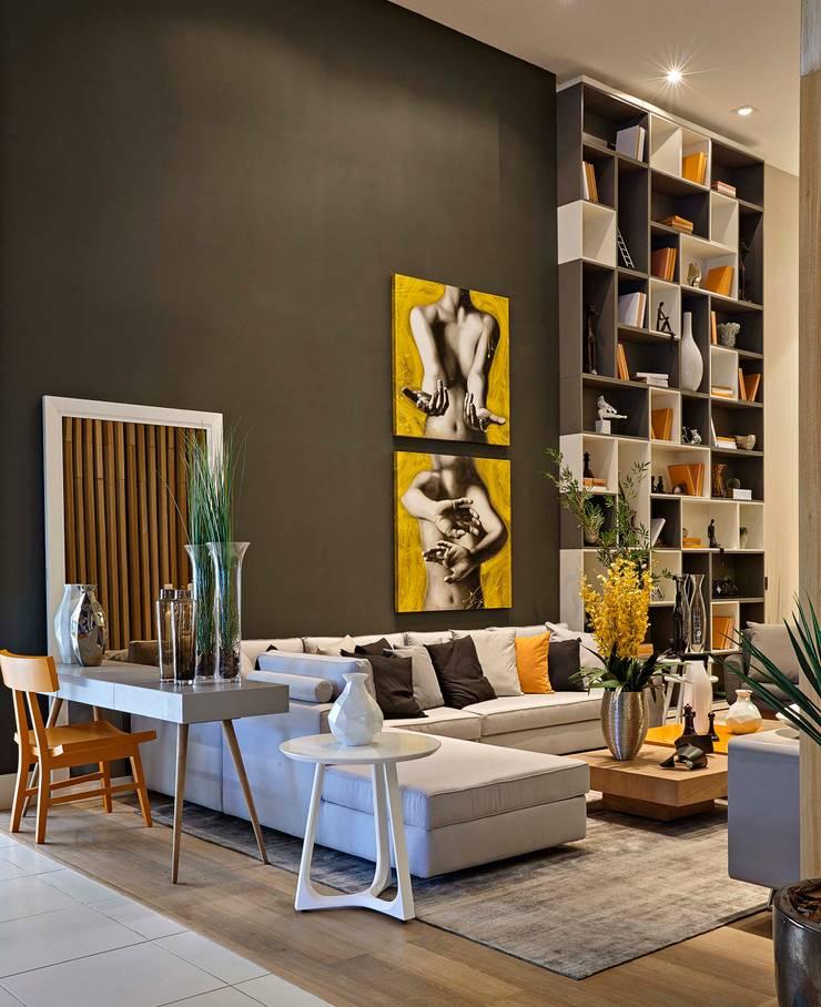 Decora Lider Vitória - Sala Multiuso: Salas de estar  por Lider Interiores,Moderno