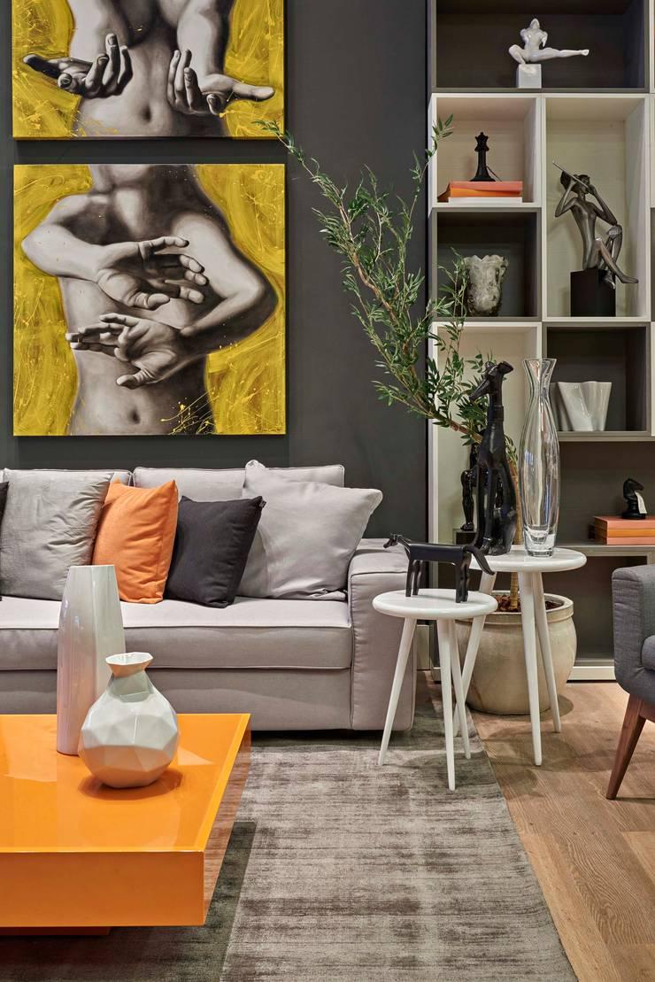 Decora Lider Vitória – Sala Multiuso: Salas de estar  por Lider Interiores,Moderno
