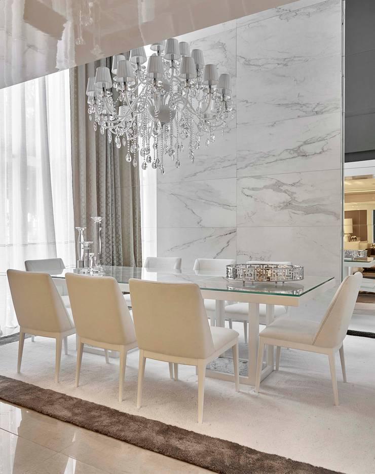 Decora Lider Vitória – Sala de Estar e Jantar: Salas de jantar  por Lider Interiores