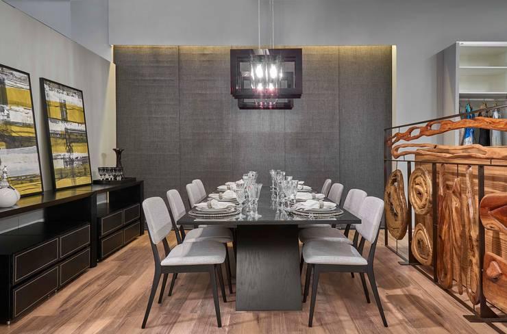 Mostra de Ambientes de Sete Lagoas - Loft Jovem Casal: Salas de estar modernas por Lider Interiores