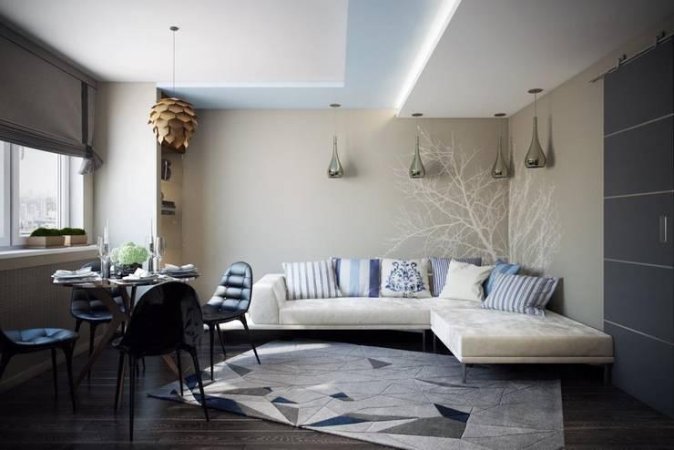 Living room by Дизайн студия Алёны Чекалиной