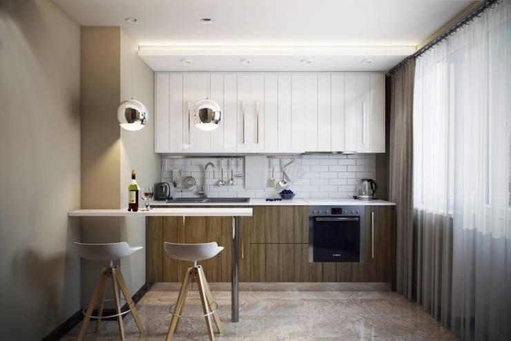 Cocinas de estilo  de Дизайн студия Алёны Чекалиной