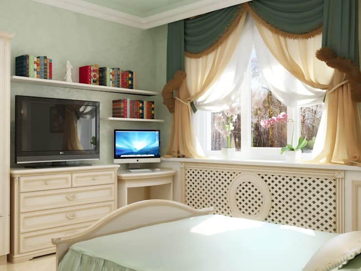 Bedroom by СТУДИЯ ДИЗАЙНА ЭЛИТНЫХ ИНТЕРЬЕРОВ АЛЕКСАНДРА ЕЛАШИНА.