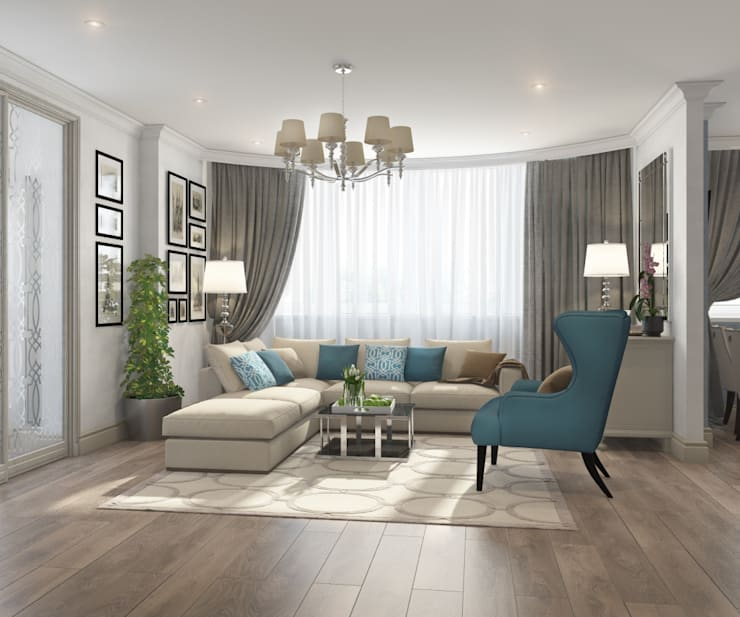 Apartment A: Гостиная в . Автор – Bovkun design