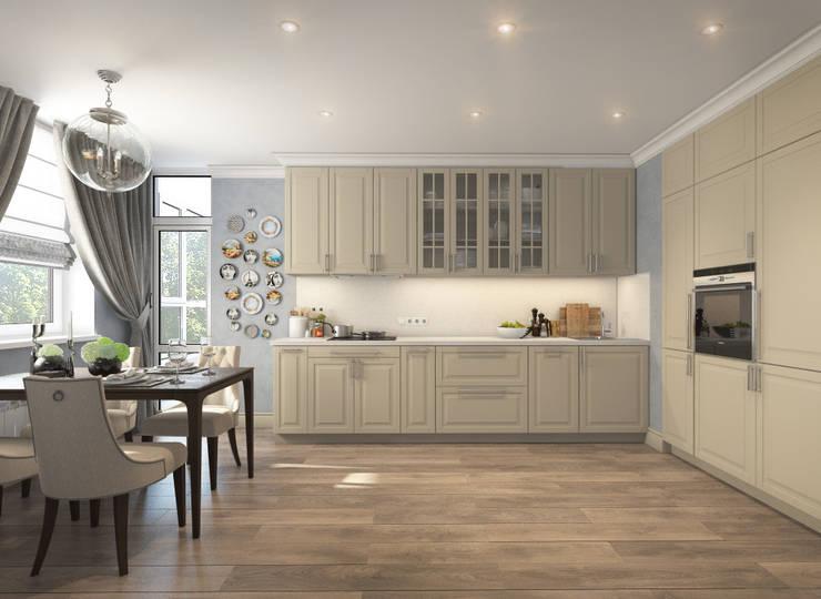 Apartment A: Кухни в . Автор – Bovkun design