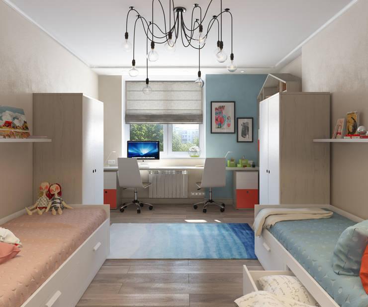 Apartment A: Детские комнаты в . Автор – Bovkun design