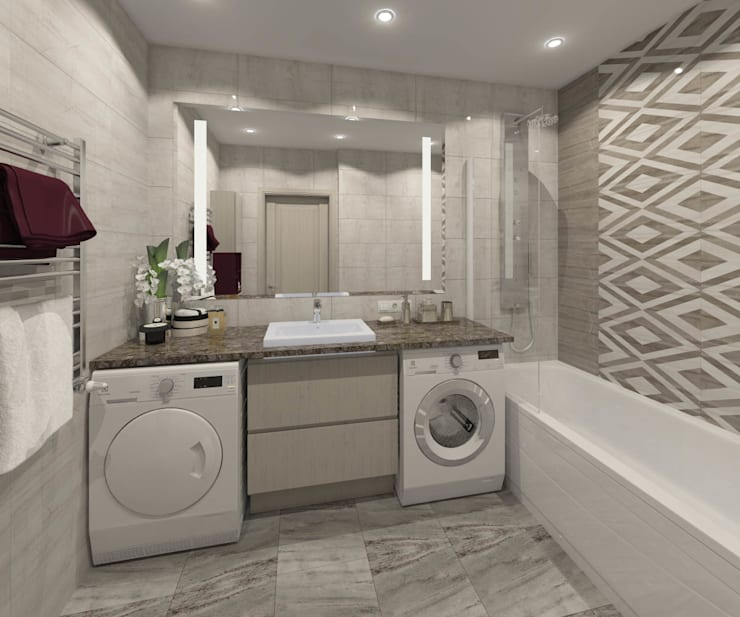 Apartment A: Ванные комнаты в . Автор – Bovkun design