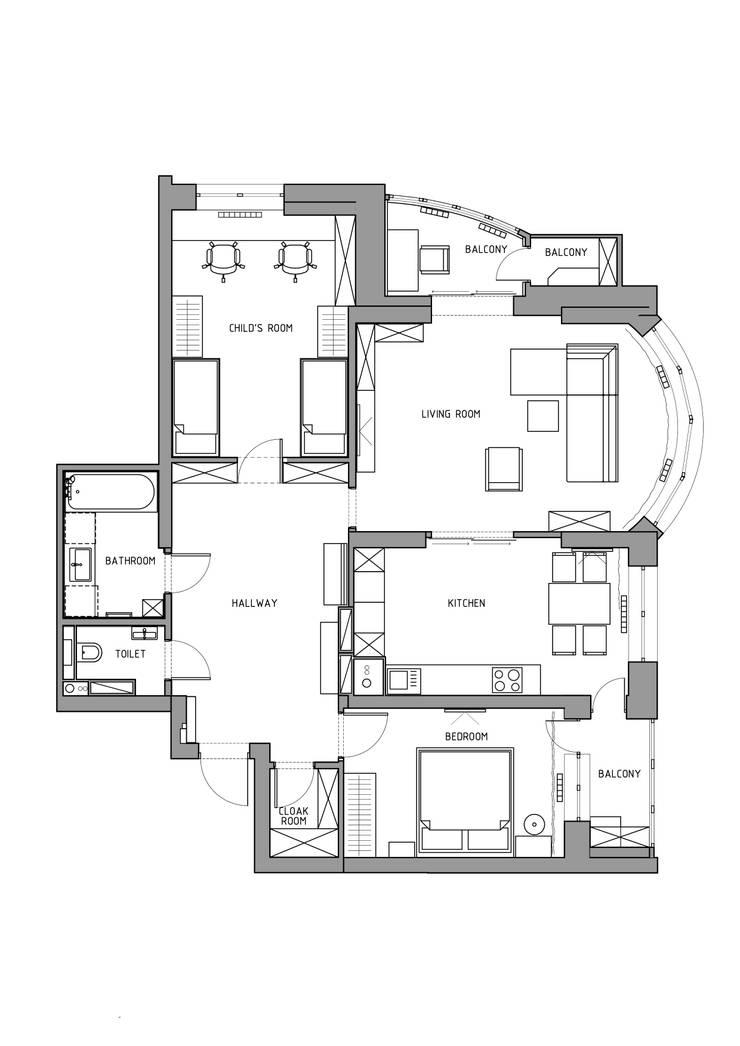 Apartment A:  в . Автор – Bovkun design