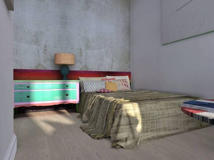 Лофт: Спальни в . Автор – Мастерская интерьеров