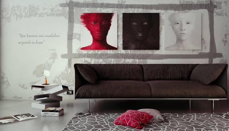 Interior render: Soggiorno in stile in stile Minimalista di Visual4d - Rendering&Multimedia