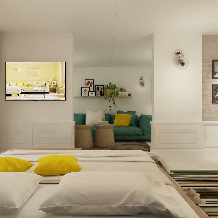 Квартира : Спальни в . Автор – The Аrt of interior from Olga Kalinina, Эклектичный
