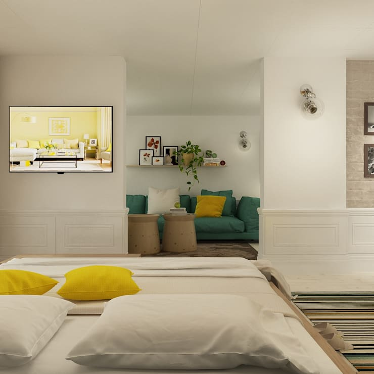 Квартира : Спальни в . Автор – The Аrt of interior from Olga Kalinina