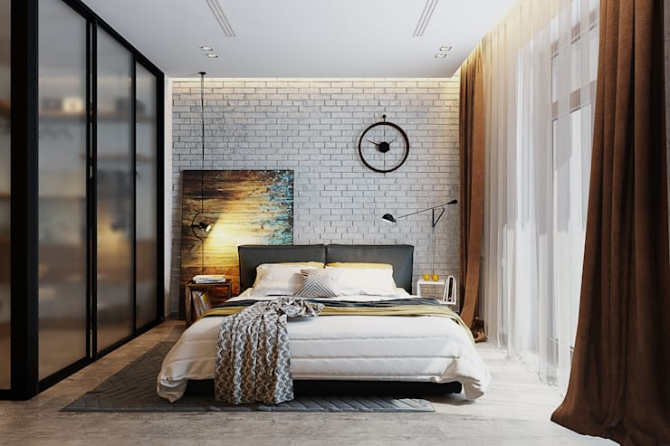 industrial Bedroom by Solo Design Studio