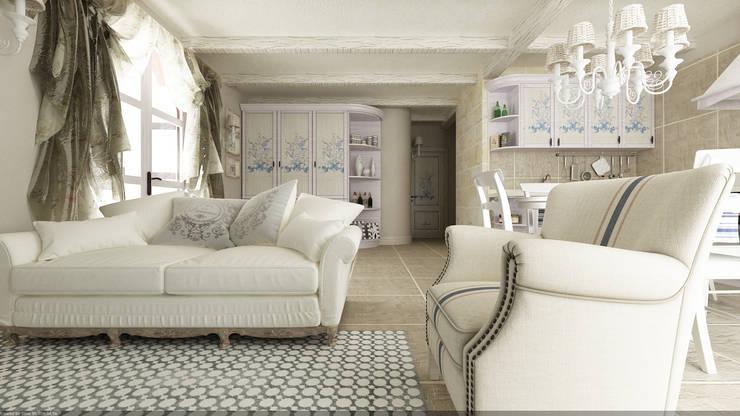 غرفة المعيشة تنفيذ De Vivo Home Design