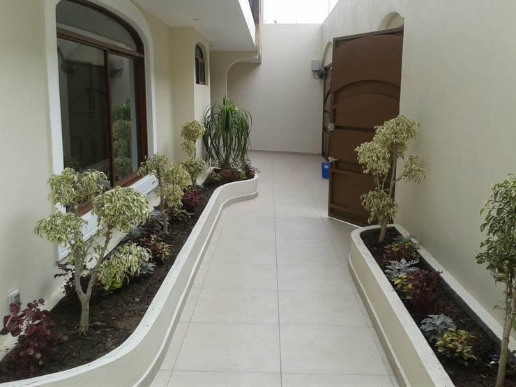Casa JdC: Jardines de estilo moderno por PUNTO A PUNTO ARQUITECTURA