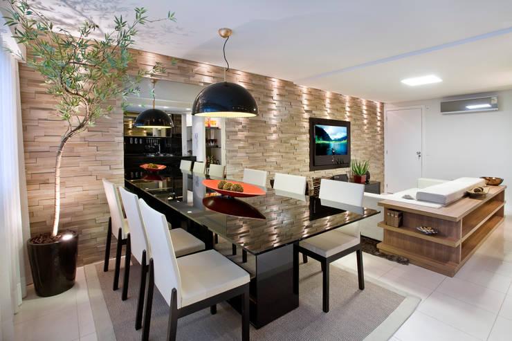 Duplex Costa: Salas de jantar  por Renata Dutra Arquitetura