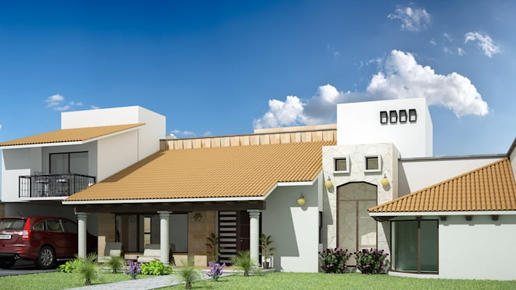 Casa FNP-15: Casas de estilo  por Jeost Arquitectura