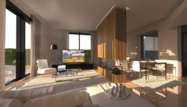 Projekty,  Salon zaprojektowane przez Office of Feeling Architecture, Lda