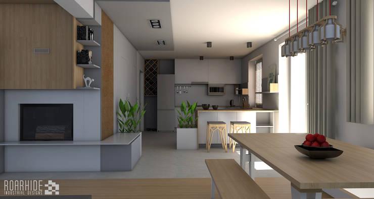 Widok na kuchnię: styl , w kategorii Kuchnia zaprojektowany przez ROARHIDE Industrial designs