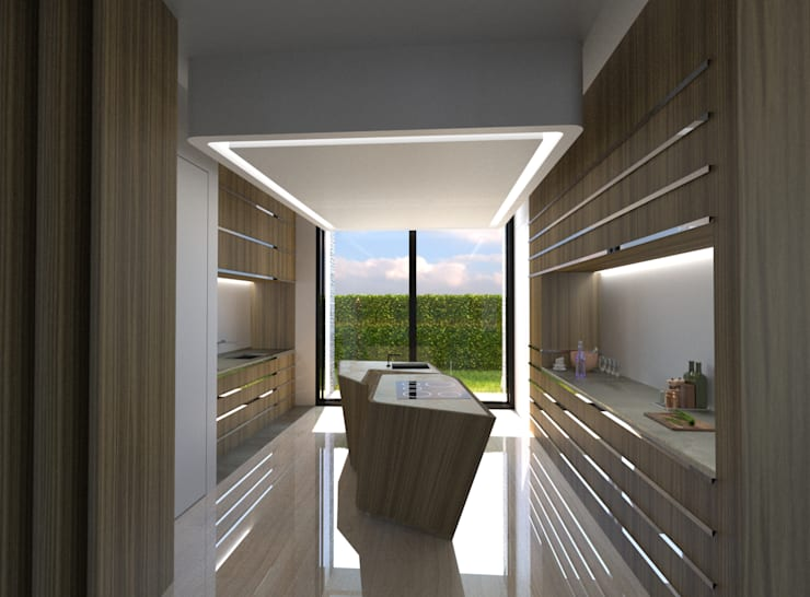 Kitchen by Office of Feeling Architecture, Lda