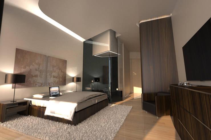 Projekty,  Sypialnia zaprojektowane przez Office of Feeling Architecture, Lda