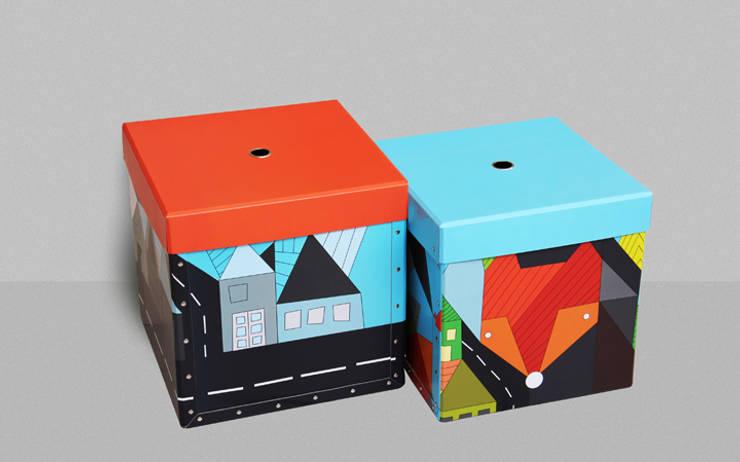 Aufbewahrungsboxen Foxes, for him: modern  von Designstudio DecorPlay,Modern