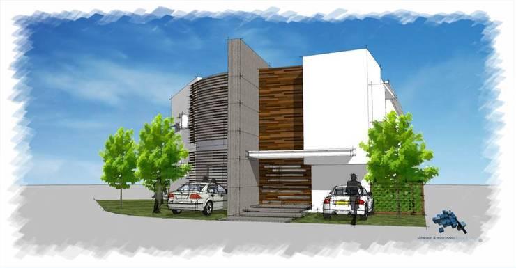 Acceso Principal:  de estilo  por villarreal arquitectos y urbanistas asociados sc