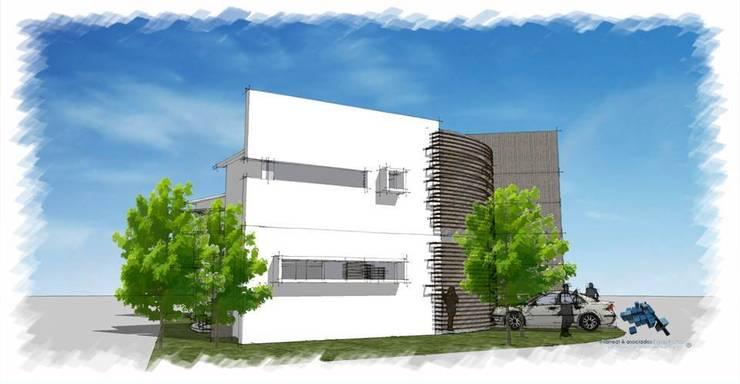 Area de estacionamiento:  de estilo  por villarreal arquitectos y urbanistas asociados sc