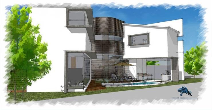 Perspectiva posterior:  de estilo  por villarreal arquitectos y urbanistas asociados sc